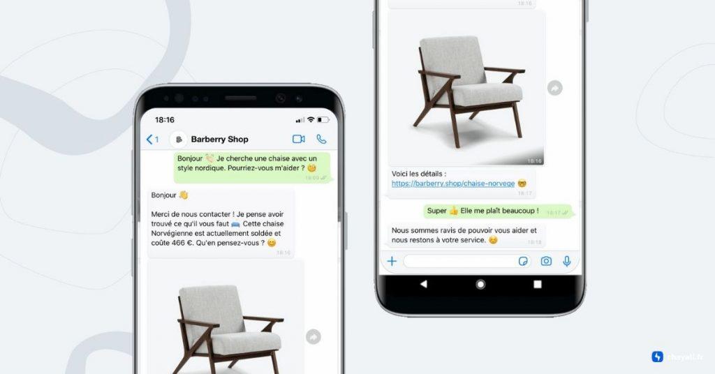Communiquez sur WhatsApp avec votre client grâce à ChayAll