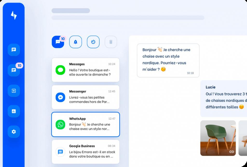 La plateforme de ChayAll regroupe toutes vos messageries