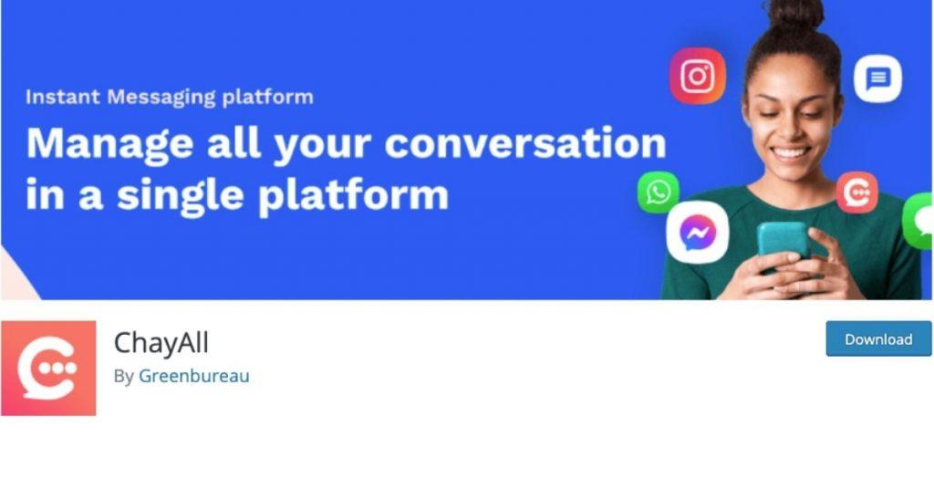 Télécharger ChayAll pour traiter chaque message des visiteurs de votre site web sur whatsapp