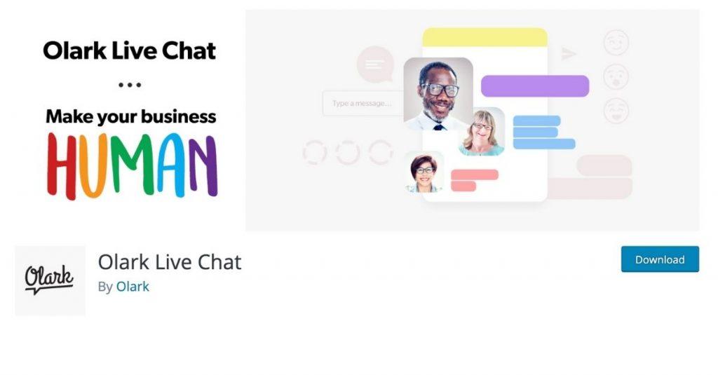 Olark Live Chat a créé son propre plugin dédié au commerce conversationnel