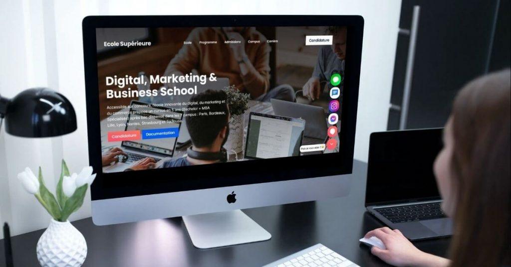 développement de la stratégie d'enseignement numérique avec des données d'éducation digitale