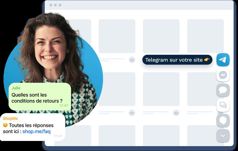 disponible sur les appareils sous android, ios, windows et linux, télécharger nos applications de messagerie instantanée pour envoyer un message à vos clients
