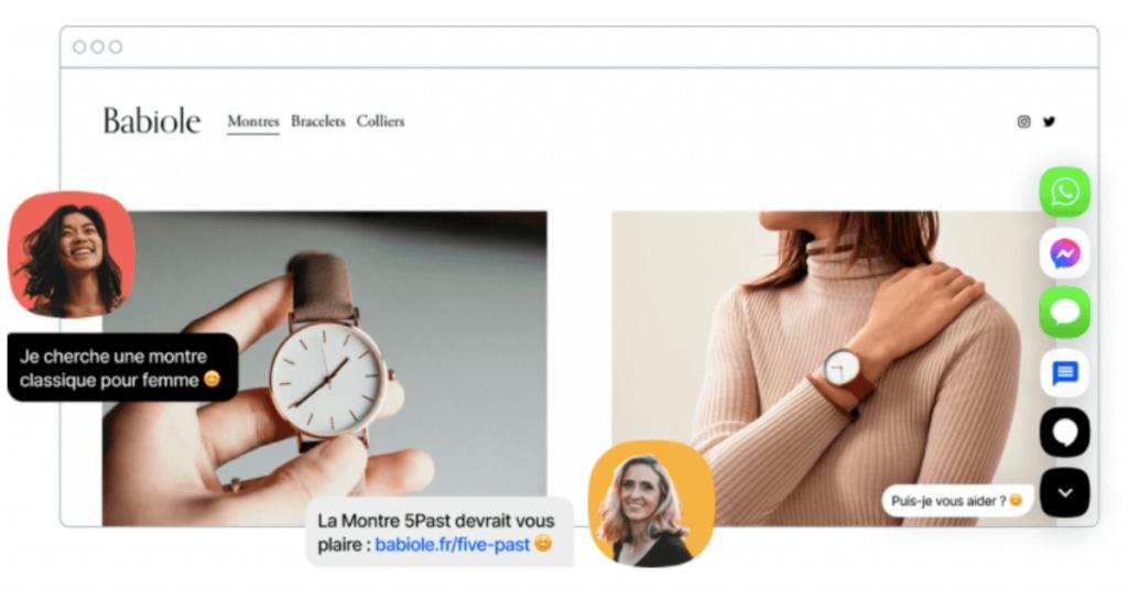 La création des sites Amazon et Ebay et la livraison en magasin sont possibles
